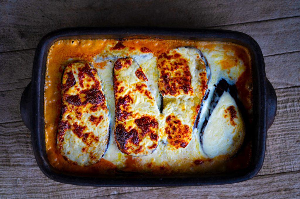 Lasagna de berenjenas con queso Noal